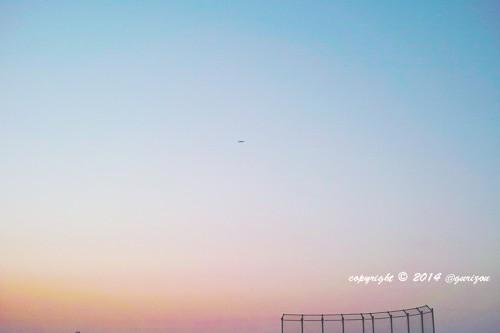 sunsetandairplane